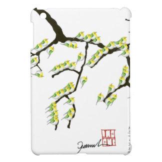 sakura with green birds, tony fernandes case for the iPad mini