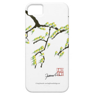 sakura with green birds, tony fernandes case for the iPhone 5