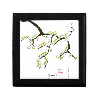 sakura with green birds, tony fernandes gift box