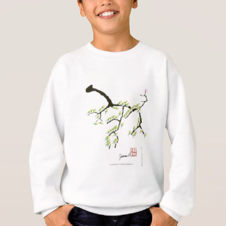 sakura with green birds, tony fernandes sweatshirt