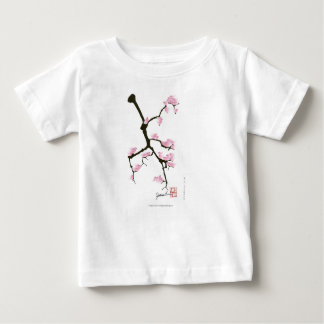 sakura with pink birds by tony fernandes baby T-Shirt