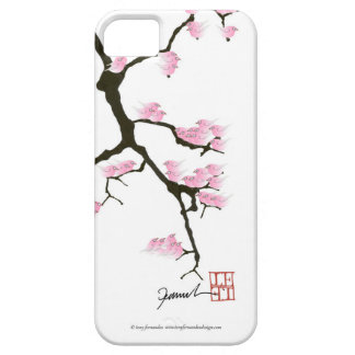 sakura with pink birds by tony fernandes iPhone 5 case