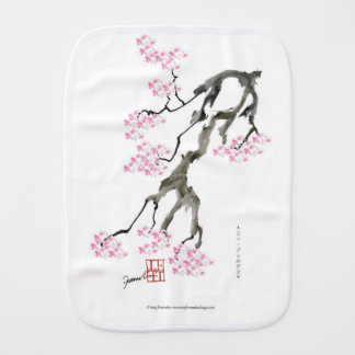 sakura with pink goldfish, tony fernandes burp cloth