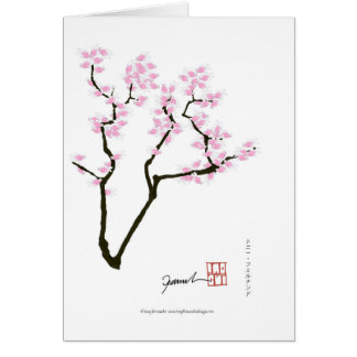 sakura with pink goldfish, tony fernandes card