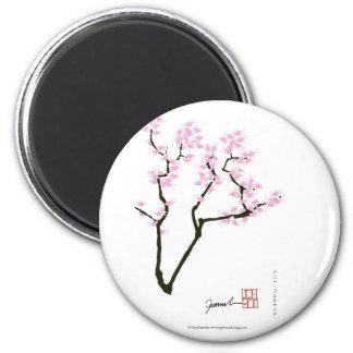 sakura with pink goldfish, tony fernandes magnet