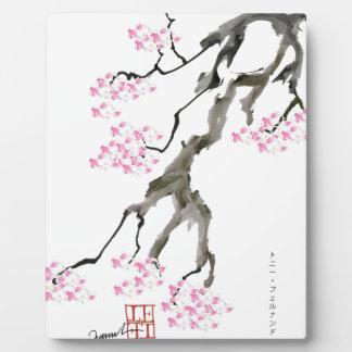 sakura with pink goldfish, tony fernandes plaque