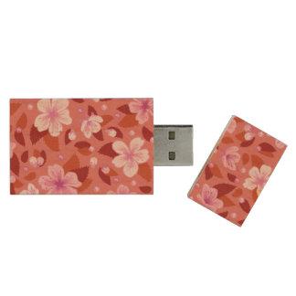 Sakura Wood USB Flash Drive