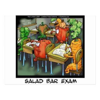 Salad Bar Exam Funny Postcard