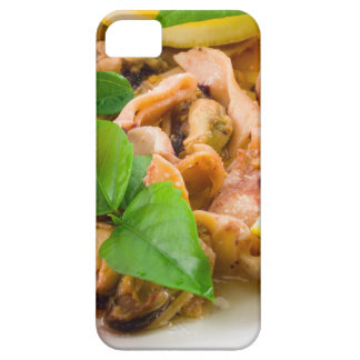 Salad of blanched pieces of seafood on a plate barely there iPhone 5 case
