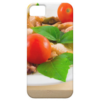 Salad of blanched pieces of seafood on a plate iPhone 5 cover