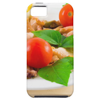 Salad of blanched pieces of seafood on a plate tough iPhone 5 case