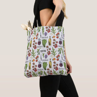 Salad Pattern custom monogram bags