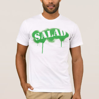 Salad Tagged (fitted t) - Green/White T-Shirt