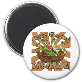 Salad Tossing Champion 6 Cm Round Magnet