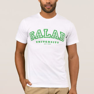 Salad University (fitted t) - Green/White T-Shirt