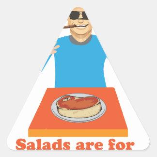 Salads are for democrats triangle sticker