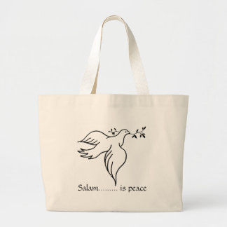 Salam......... is peace jumbo tote bag