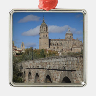 Salamanca Cathedrals, viewed from Puente Romano Metal Ornament