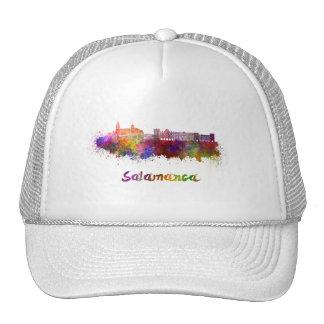 Salamanca skyline in watercolor cap