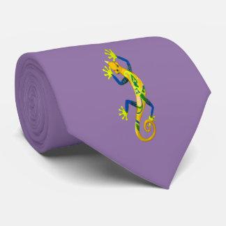 Salamander Fashion Tie-Lavender/Yellow/Green/Blue Tie