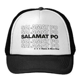 "Salamat Po ""Thank You"" Grocery Bag Design - Black Cap"