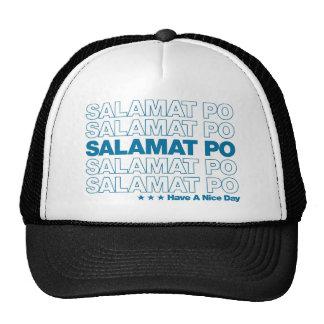 "Salamat Po ""Thank You"" Grocery Bag Design - Blue Mesh Hat"