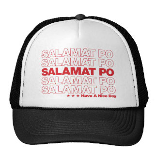 "Salamat Po ""Thank You"" Grocery Bag Design - Red Cap"