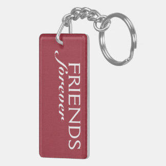 Sale - 2014 Friends Forever - See Back Double-Sided Rectangular Acrylic Key Ring