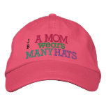 SALE! A MOM Wears Many Hats by SRF Embroidered Cap