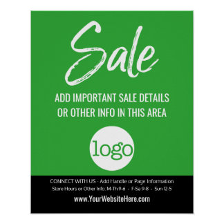 Sale Advertisement - Add Logo and Details Poster
