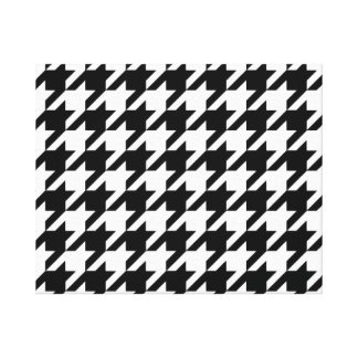 SALE - CLASSIC HOUNDSTOOTH WALL ART Wrapped Canvas