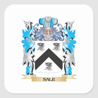 Sale Coat of Arms - Family Crest Square Stickers