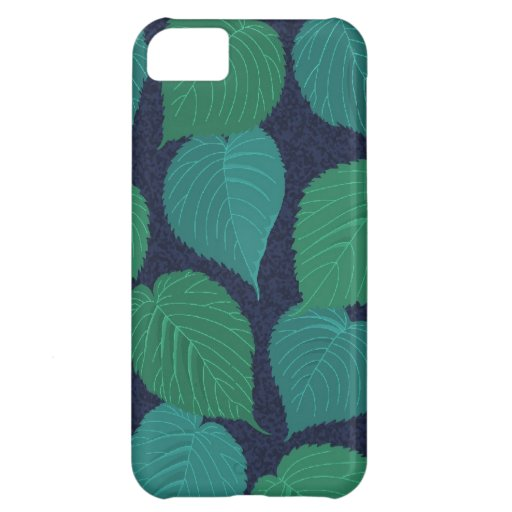 SALE - Colorful Green Leaves iPhone 5 Case