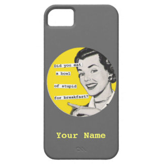 SALE - Custom Name Happy Housewife iPhone 5 Case