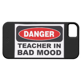 SALE - Danger! Teacher in Bad Mood iPhone 5 Case