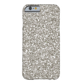 SALE Gorgeous Silver (faux) Glitter iPhone 6 case Barely There iPhone 6 Case