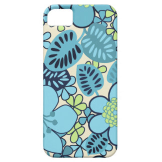 SALE - Groovy Retro Blue Floral iPhone 5 Case