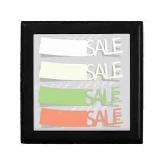 Sale Labels Gift Box