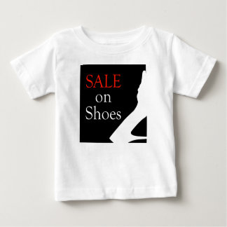 Sale on shoes with silhouette of a shoe baby T-Shirt