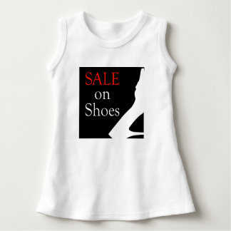 Sale on shoes with silhouette of a shoe dress