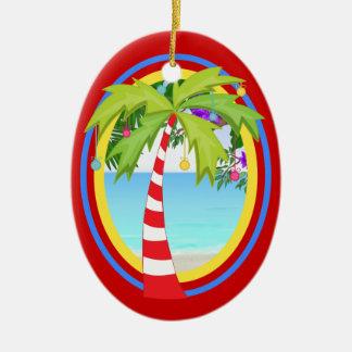 SALE! Paradise Christmas Tree Ceramic Oval Decoration