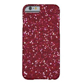 SALE - RED HOT RED Glitter iPhone 6 case Barely There iPhone 6 Case