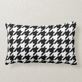 SALE - Retro Classic Houndstooth Lumbar Pillow