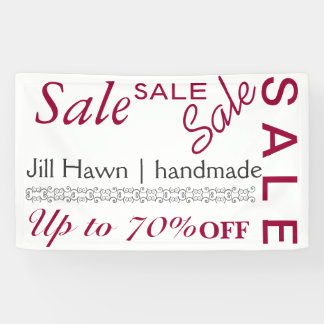 Sale sign for craft booth