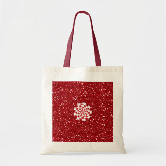 SALE - Small Christmas Tote ~ Peppermint Candy