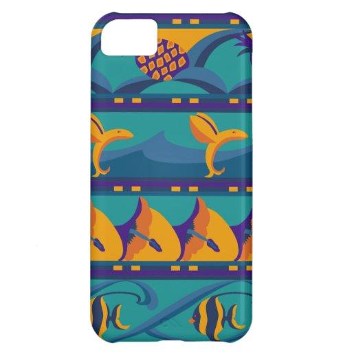 SALE - Tropical Blues / Orange Ocean iPhone 5 Case