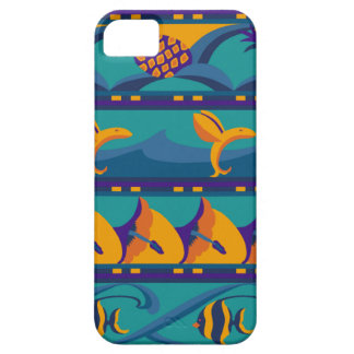 SALE - Tropical Blues / Orange Ocean iPhone 5 Case