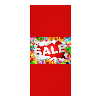 -Sale-Vector-Illustration BRIGHT RED COLORFUL GIFT Custom Rack Card