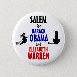Salem for Obama and Warren 2012 6 Cm Round Badge