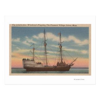 Salem, MA - View of Capt. Winthrop's Arbella Postcard
